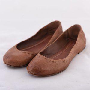 FRYE Carson Ballet Flats, Brown